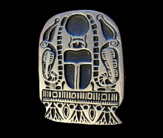 Petroglyph beetle pewter pin. 1998