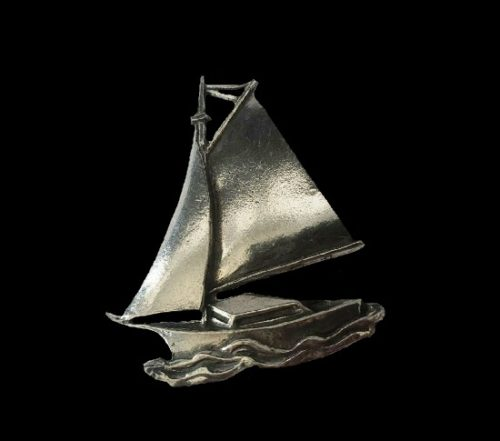 Sailboat On The Water Pin Brooch