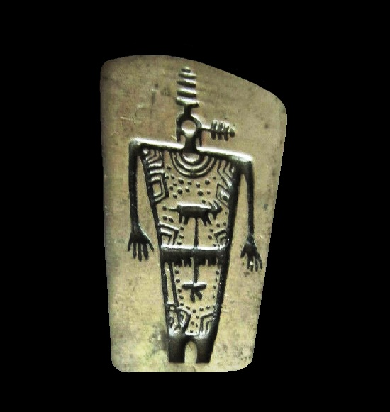 Song Gatherer pewter pin. Fremont Barrier Canyon Petroglyph collection