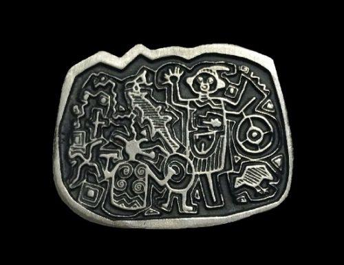 Tribal Petroglyphs pewter pin