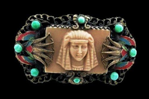 Vintage Egyptian motif brooch