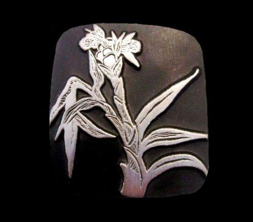 Wildflower pewter brooch. 1998