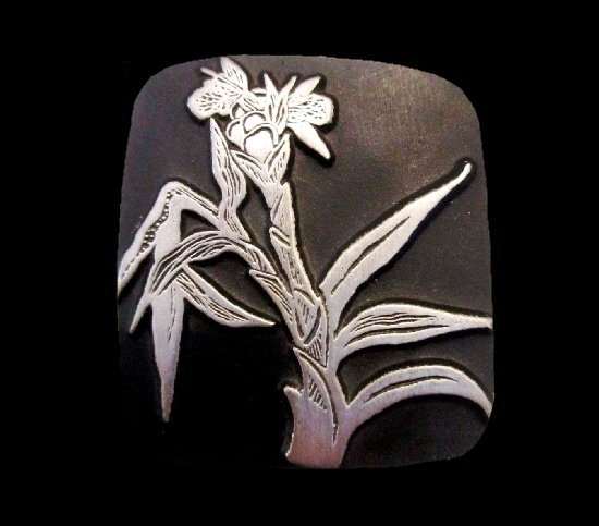 Wildflower pewter brooch. 1998