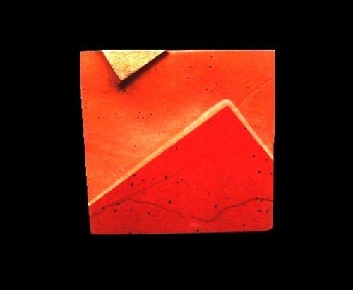 'Erosion' series brooch. 18k gold and red jasper. 1985