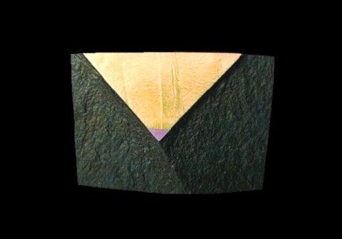 'Interference' series brooch. Slate, 18k gold, titanium. 1986
