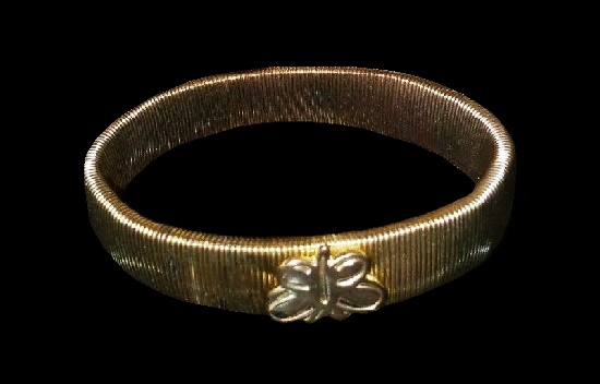 1900s gold plated bracelet with butterfly hallmark