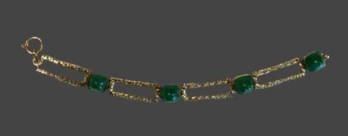 Agate gold filled bracelet