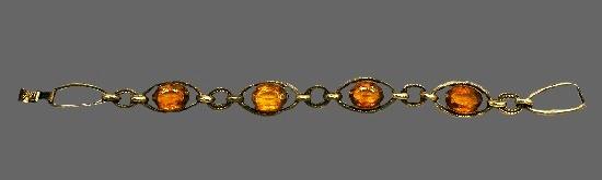 Amber silver plated bracelet