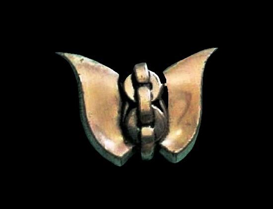 Butterfly modernist design sterling silver brooch