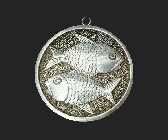 Fish sterling silver pendant
