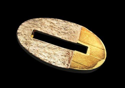 Modernist design Sterling 18K Gold Pin. 1965