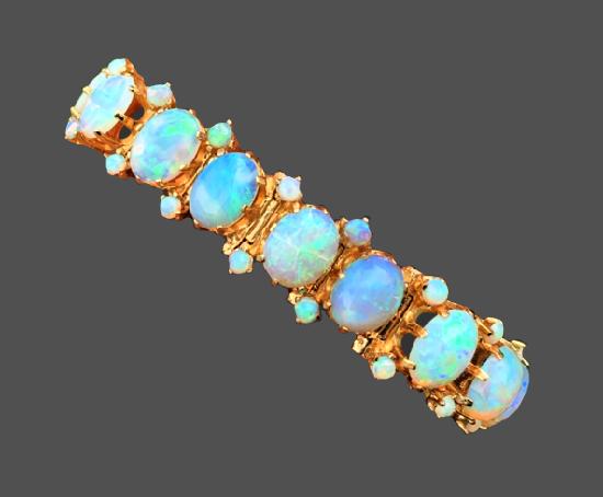 Natural Opal 14k Gold Bracelet