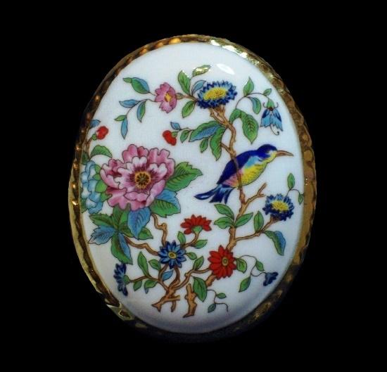 Pembroke Flowers bone china brooch