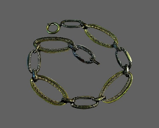 Silver and gold plated link bracelet