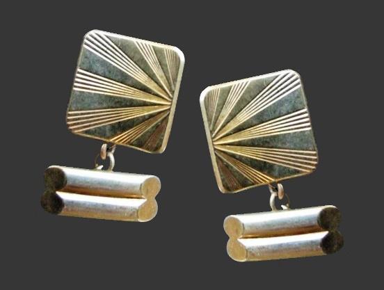 Textured gold plated cufflinks