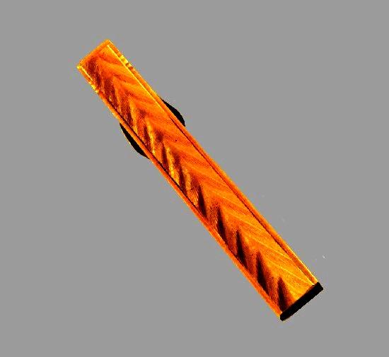 Textured gold tie clip