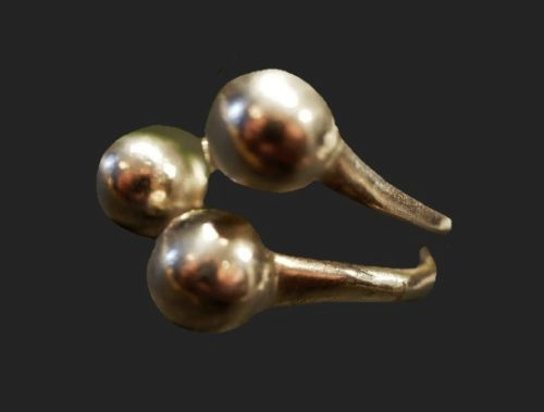 Three balls sterling silver ring