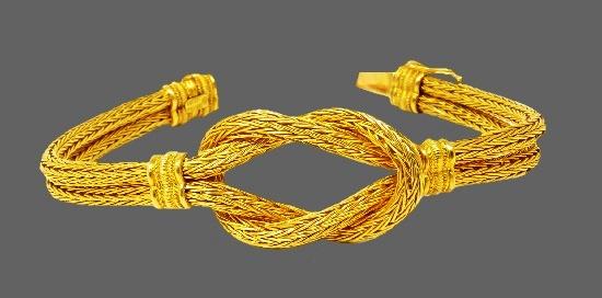 18k Yellow Gold Braided Bracelet