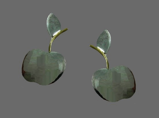 Apple earrings. Sterling silver. Anne Harvey