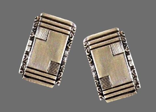 Art Deco 830s Sterling Silver Cufflinks