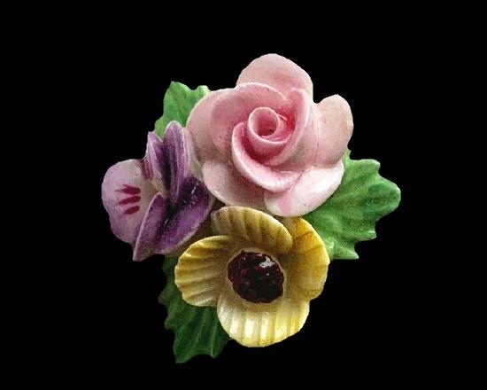Bone China Flower brooch