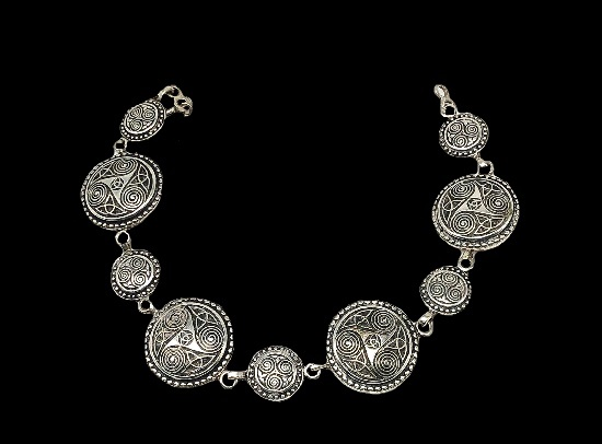 Bracelet with a symbolic image of Triskell. 925 sterling silver. 1950s