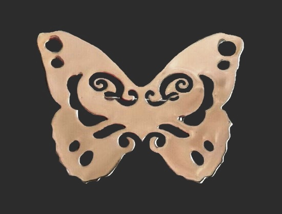 Butterfly brooch of silver tone. 4.5 cm