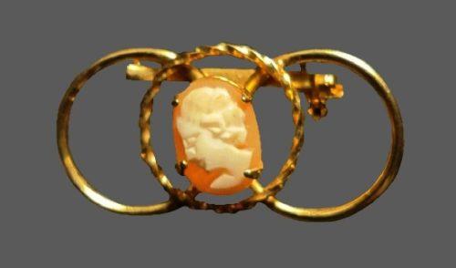 Cameo 12 K gold filled pin