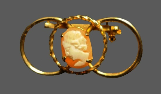 Cameo 12 K gold filled pin
