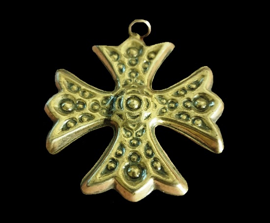 Christmas cross pendant. Sterling silver. 1975