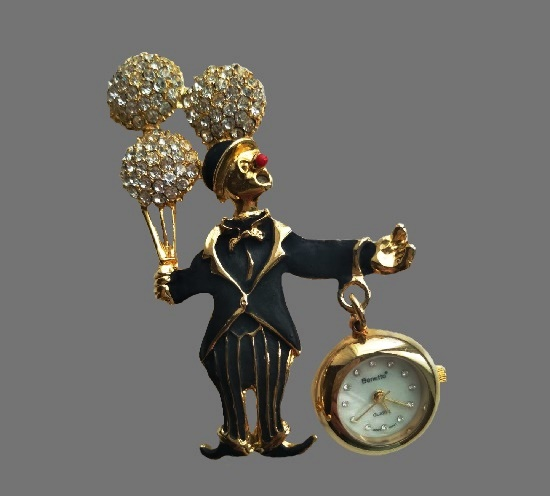 Bonetto vintage timepiece costume jewelry