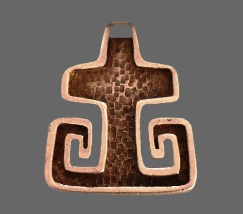 Commemorative cross pendant. 925 sterling silver. 1982