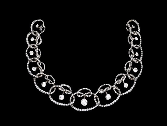 Diamond necklace. Lalique for Lacloche Frères, 1890
