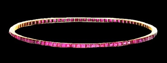 Early 20th century ruby bangle
