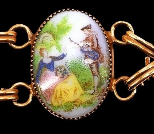 Miniature paintings bracelet detail