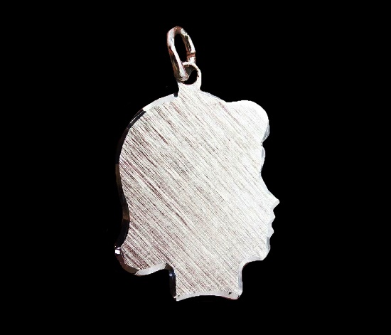 Girl's Silhouette 925 sterling silver charm