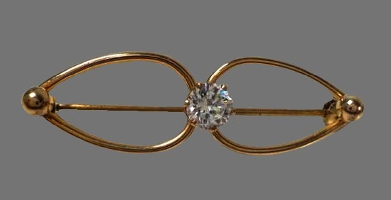 Gorgeous 14 K gold filled topaz brooch