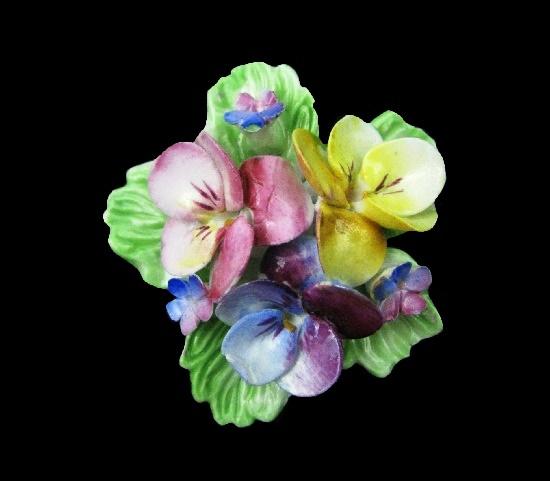 Handcrafted porcelain flower brooch
