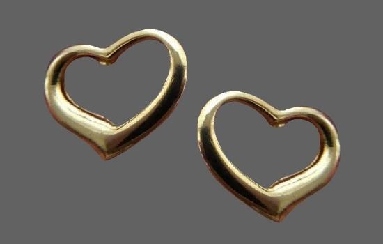 Heart gold plated earrings