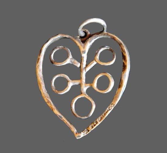 Heart sterling silver pendant