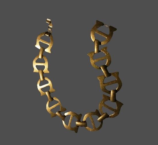 Logo link gold tone bracelet