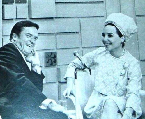 Mike Douglas and Cindy Adams