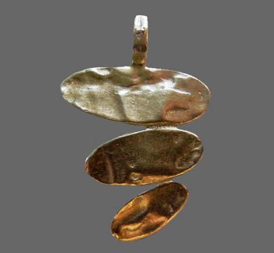 Modernist design silver plated pendant