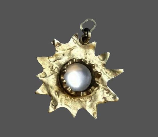 Moonstone sterling silver star pendant