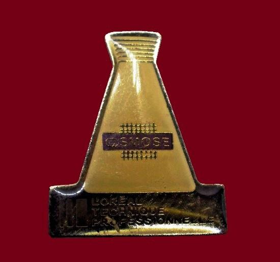 Osmose cosmetics badge. 1990s