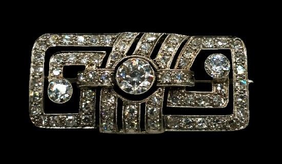 Platinum and diamond brooch. 1920s