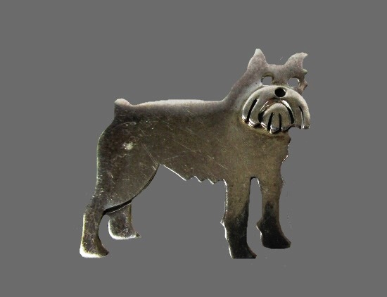 Scottish Terrier sterling silver brooch pin