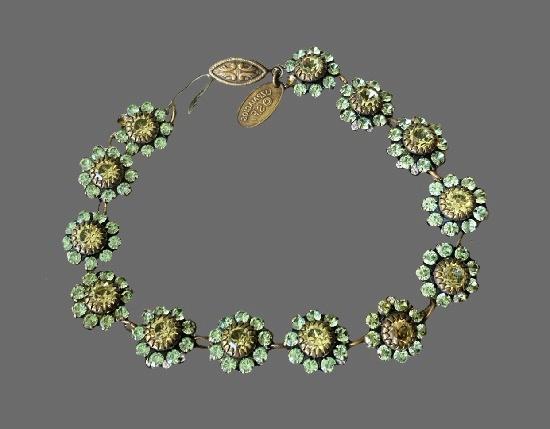 Swarovski crystal flower design bracelet