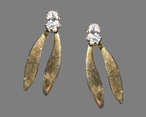 Vintage sterling silver topaz earrings