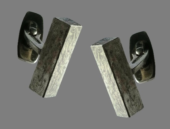 925 sterling silver rectangular cufflinks
